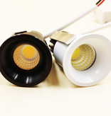 40mm downlight LED cut-out 30 mm 3W white or black