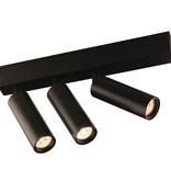 Plafonnier LED design noir ou blanc orientable module 3x4W 360 lumen