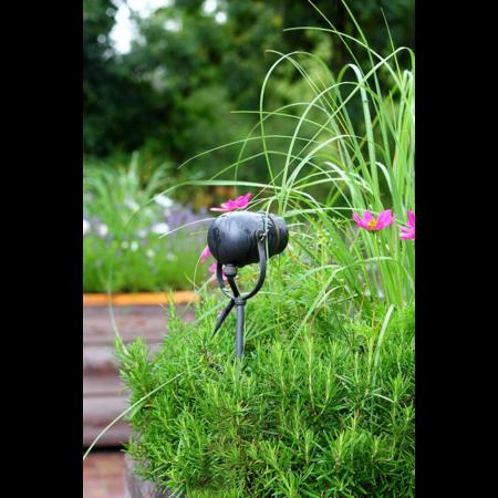 Spot de jardin Rustic Authentage avec GU10 nickel bronze brossé chrome 90cm
