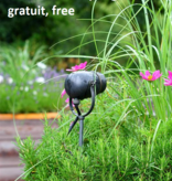 Rustic Authentage garden spot with GU10 bronze-chrome-brushed nickel 90cm
