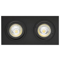 Double recessed spot black hole size 80-175mm outside size 95-190 mm
