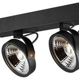 Dubbele plafondlamp zwart of wit incl. 2x AR111 12W 2700K 1130 lm