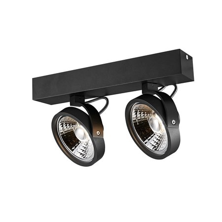 Double ceiling lamp black or white incl. 2x AR111 12W 2700K 1130 lm