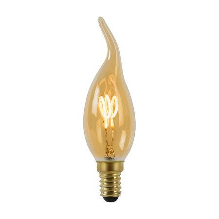 Lampe bougie à filament ambre 3W LED