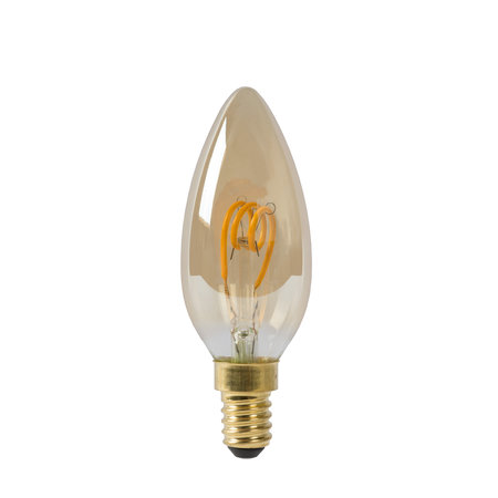 Kaarslamp amber filament 3W LED