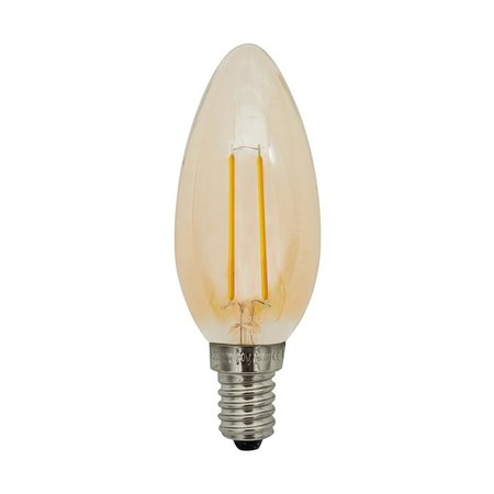 Lampe bougie dimmable LED 2W filament