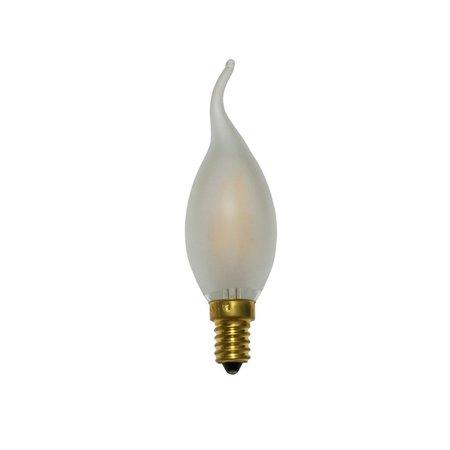 LED kaarslamp dimbaar 2W kooldraad zwaanhals