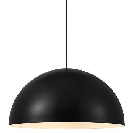 Lampe à suspension pour table diamètre 300 mm ou 400 mm semi-circulaire avec raccord E27 blanc ou noir