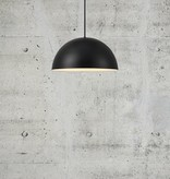 Pendant lamp above table diameter 300 mm or 400 mm semicircular with E27 fitting white or black