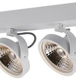 Plafonnier double noir ou blanc avec 2x AR111 12W 2700K 1130 lm