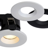 Dimmable bathroom spot recessed 6.5W LED hole size 70mm white and black