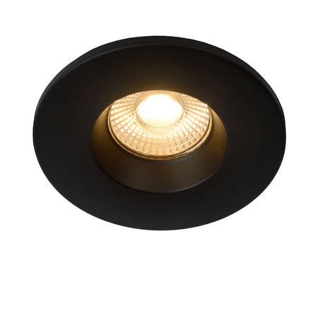 Spot de salle de bain dimmable encastré 6.5W LED trou taille 70mm blanc et noir