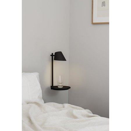 Wall lamp Scandinavian gray or black dimmable and USB