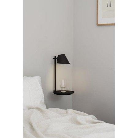 Wandlamp Scandinavisch grijs of zwart dimbaar en USB