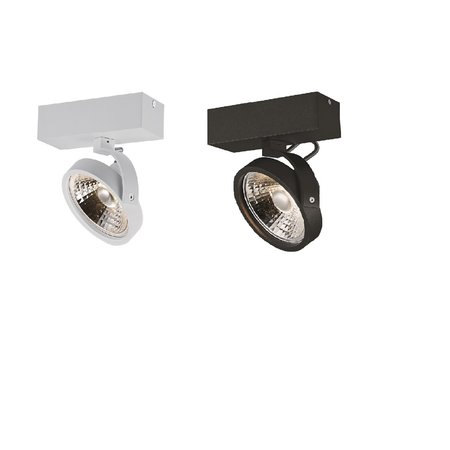 Single ceiling lamp black or white incl. 1x AR111 12W 2700K 1130 lm