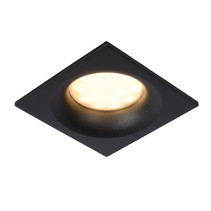 Round or square recessed spot for damp room white or black with GU10 IP44 85mm