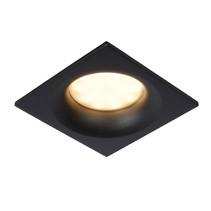 Spot encastré rond ou carré pour pièce humide blanc ou noir avec GU10 IP44 85mm