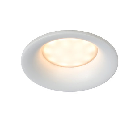 Round or square recessed spot damp room white or black with GU10 IP44 85mm
