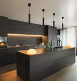 Suspension LED design tube noir ou blanc module 4W 360 lumen