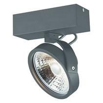 Enkele plafondlamp zwart of wit incl. 1x AR111 12W 2700K 1130 lm