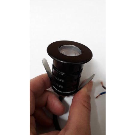 Inbouwspot mini diameter 42mm IP67 dimbaar inox