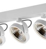 3-lichts plafondlamp zwart of wit incl. 3x AR111 12W 2700K 1130 lm