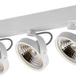 3 light ceiling lamp black or white incl. 3x AR111 12W 2700K 1130 lm