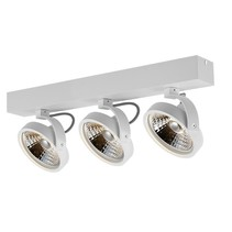 3 light ceiling lamp black or white incl. 3x AR111 12W 2700K 1130 lm