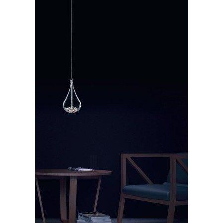 Druppel lamp glas met parels G4