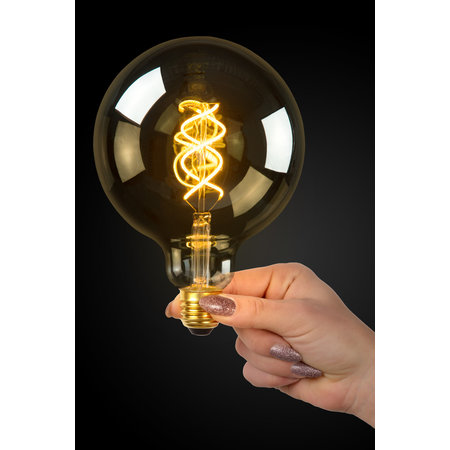 LED filament E27 small lamp 5W spiral amber or smoked