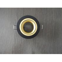 Spot encastré noir trou rond taille 80 mm, taille extérieure 93,7 mm