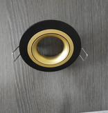 Recessed spotlight black round hole size 80mm, outside size 93.7 mm