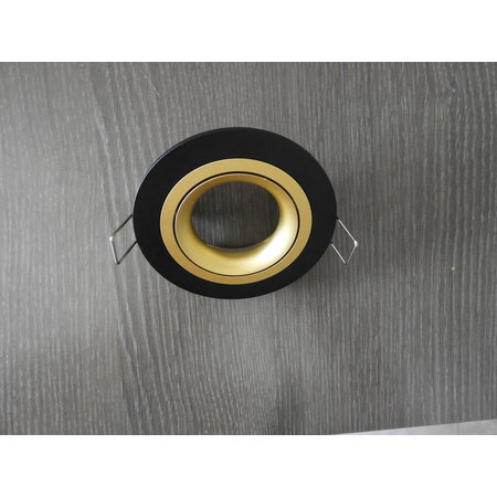 Inbouwspot zwart rond gatmaat 80mm buitenmaat 93,7 mm