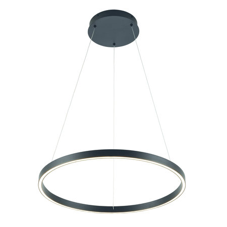 Pendant light design round LED black or white 54W 600mm Ø light up and down