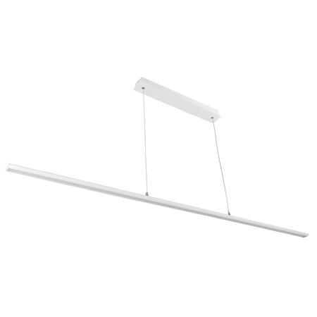 Lange dimbare hanglamp SMD LED strak wit of zwart 36W 1,76m
