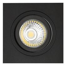 Spot encastré noir trou carré taille 80 mm, taille extérieure 93,7 mm - Copy