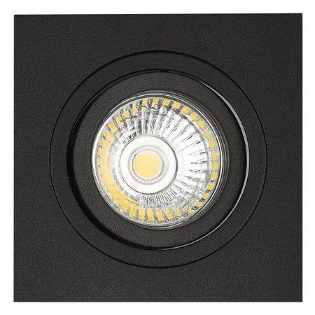 Inbouwspot zwart vierkant gatmaat 80mm buitenmaat 93,7 mm