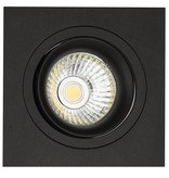 Recessed spotlight black square hole size 80mm, outside size 93.7 mm