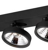 Ceiling spot with 2 x AR111 12W white or black