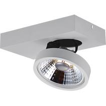 Spot de plafond avec 1 x AR111 12W blanc ou noir
