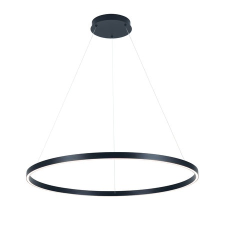 Pendant light design round LED black or white 76W 900mm Ø light up and down
