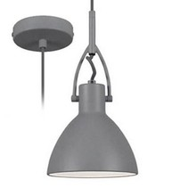 Hanglamp betonlook conisch staal 160mm H met E27 fitting