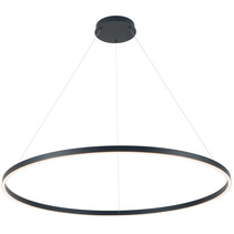 Pendant light design round LED black or white 125W 1200mm Ø light up and down