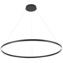 Suspension design ronde LED noire ou blanche 125W 1200mm Ø lumière de haut en bas