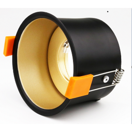 Gold downlight 90mm outsize GU10