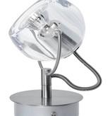 Plafonnier spot sur tige 125mm haut boule 360° GU10