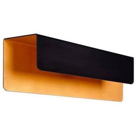 Applique murale noire dorée rectangulaire descendant 2xG9