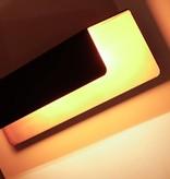 Wandlamp zwart goud rechthoekig 2xG9 down 340mm breed