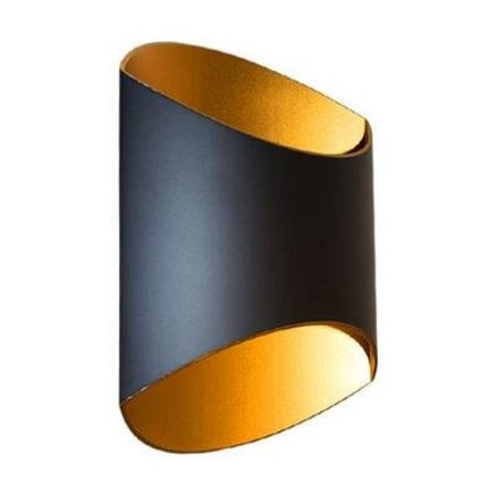 Wandlamp design ovaal up down 250mm H 12W ledmodule