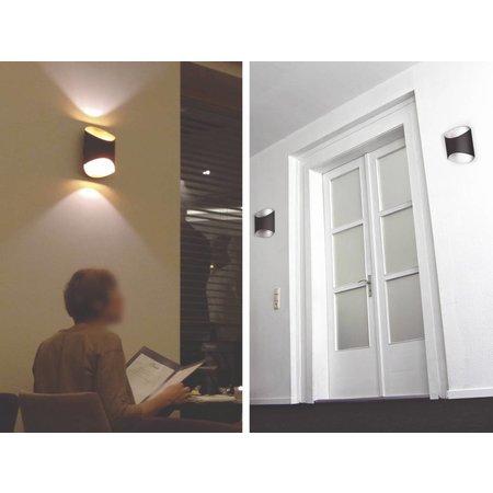 Applique murale design ovale vers le bas et le haut module LED 250mm H 12W